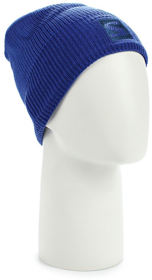 Шапка Salomon Logo Beanie, цвет: синий. L39495900. Размер универсальныйL39495900Структурированная вязаная шапка Logo Beanie украшена вышитым цветным логотипом. Модель выполнена из высококачественного материала.