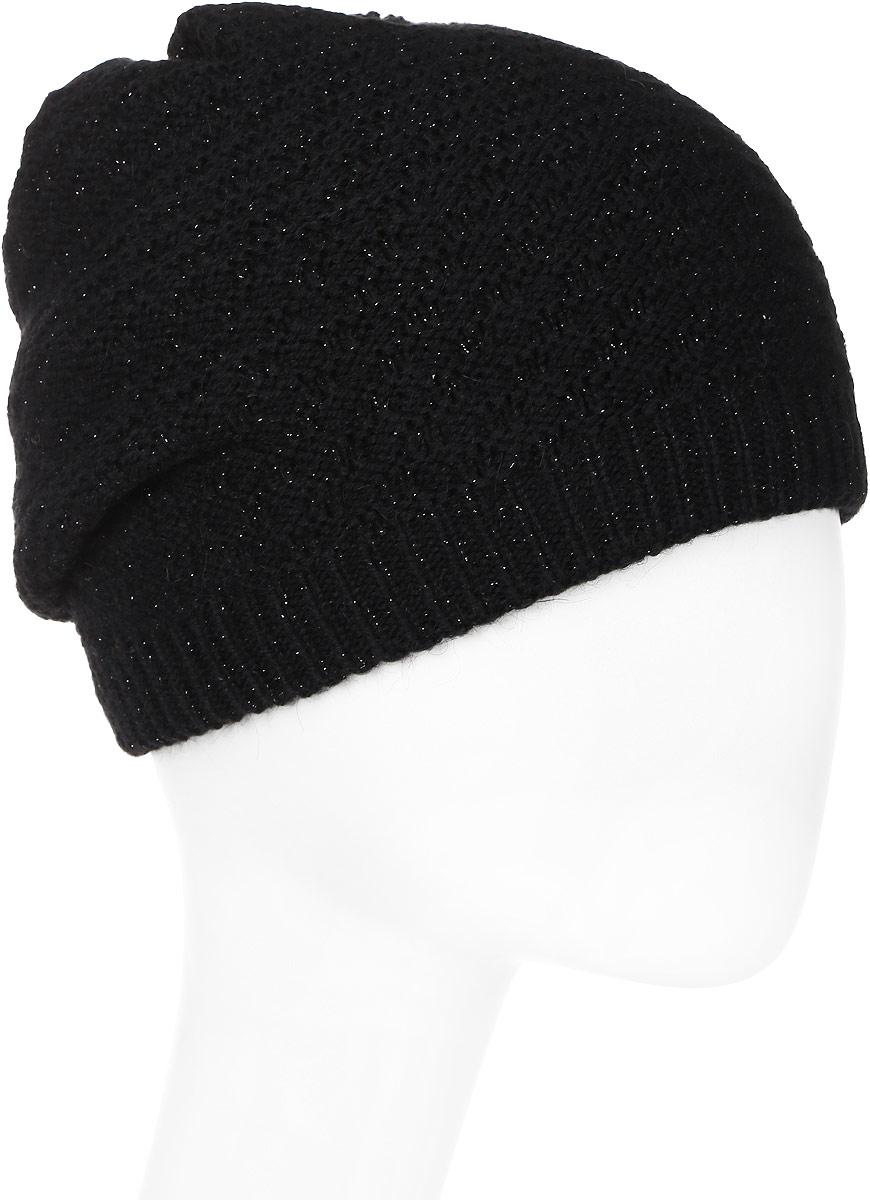 Шапка женская Snezhna, цвет: черный. SWH6775/3. Размер 56/58SWH6775/3Отличная шапка-колпак Snezhna добавит уникальность вашему образу. Данная модель мягкая и комфортная на ощупь. Модель на флисе.Уважаемые клиенты!Размер, доступный для заказа, является обхватом головы.