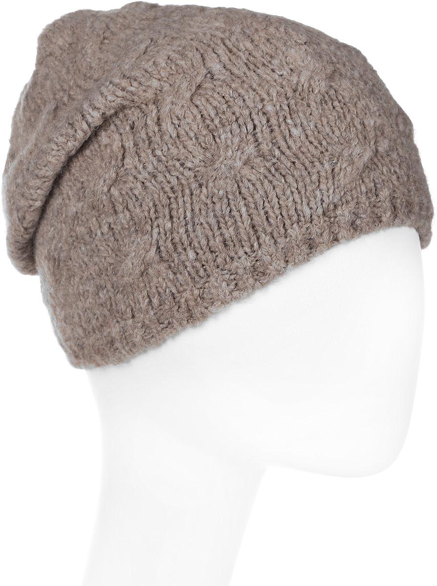 Шапка женская Snezhna, цвет: бежевый. SWH7131/2. Размер 56/58SWH7131/2Стильная шапка Snezhna, выполнена из высококачественной пряжи. Модель очень актуальна для тех, кто ценит комфорт, стиль и красоту. Отличный вариант на каждый день.Уважаемые клиенты!Размер, доступный для заказа, является обхватом головы.