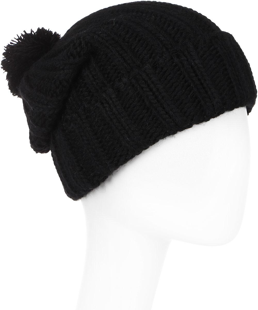 Шапка мужская Elfrio, цвет: черный. Размер 57/59. RMH6334RMH6334Отличная шапка с помпоном из пряжи, выполнена из комфортного материала. Данная модель мягкая и комфортная на ощупь, отличный вариант на каждый день.
