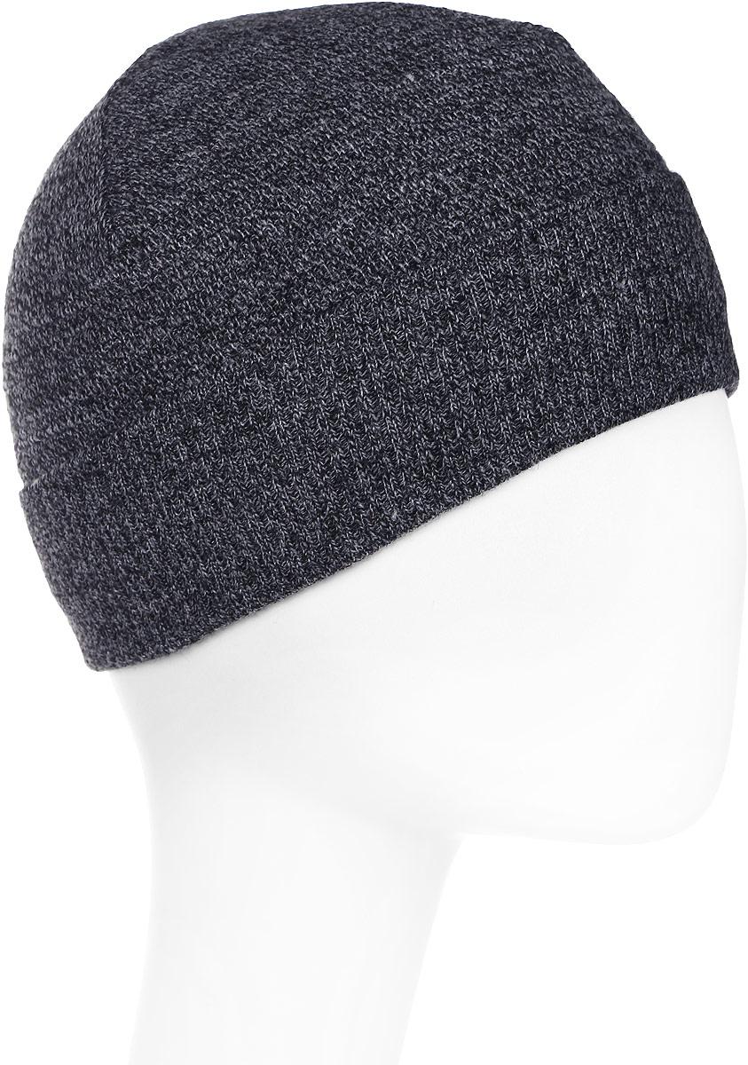 Шапка мужская Marhatter, цвет: черный, серый. Размер 57/59. MMH4877/2MMH4877/2Стильная теплая шапка на полном флисе, выполненная из высококачественных материалов, станет для вас незаменимой вещью. Будет хорошо смотреться не только со спортивной одеждой, но и с повседневной.