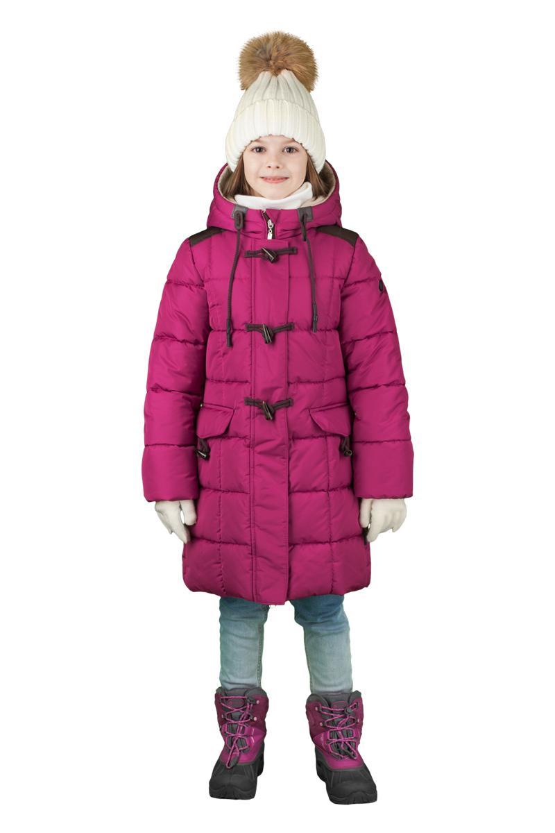 Пальто для девочки Boom!, цвет: брусничный. 70478_BOG_вар.1. Размер 158, 11-12 лет70478_BOG_вар.1Пальто для девочки Boom! c капюшоном и длинными рукавами выполнено из высококачественного материала. Модель застегивается на застежку-молнию спереди и дополнительно на пуговица. Пальто для девочки классического силуэта, идеально подходящее для школы. Специальные вставки на плечах из износостойкой ткани для школьного рюкзака.