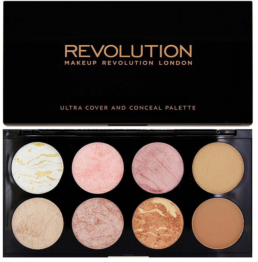 Makeup Revolution Палетка румян Ultra Blush Palette, Golden Sugar палетка хайлайтеров face sculptor strobing 20 18гр
