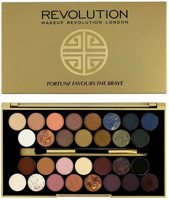 Makeup Revolution Набор из 30 теней 30 Eyeshadow Palette, Fortune Favours The Brave professional makeup 20pcs brushes set powder foundation eyeshadow eyeliner