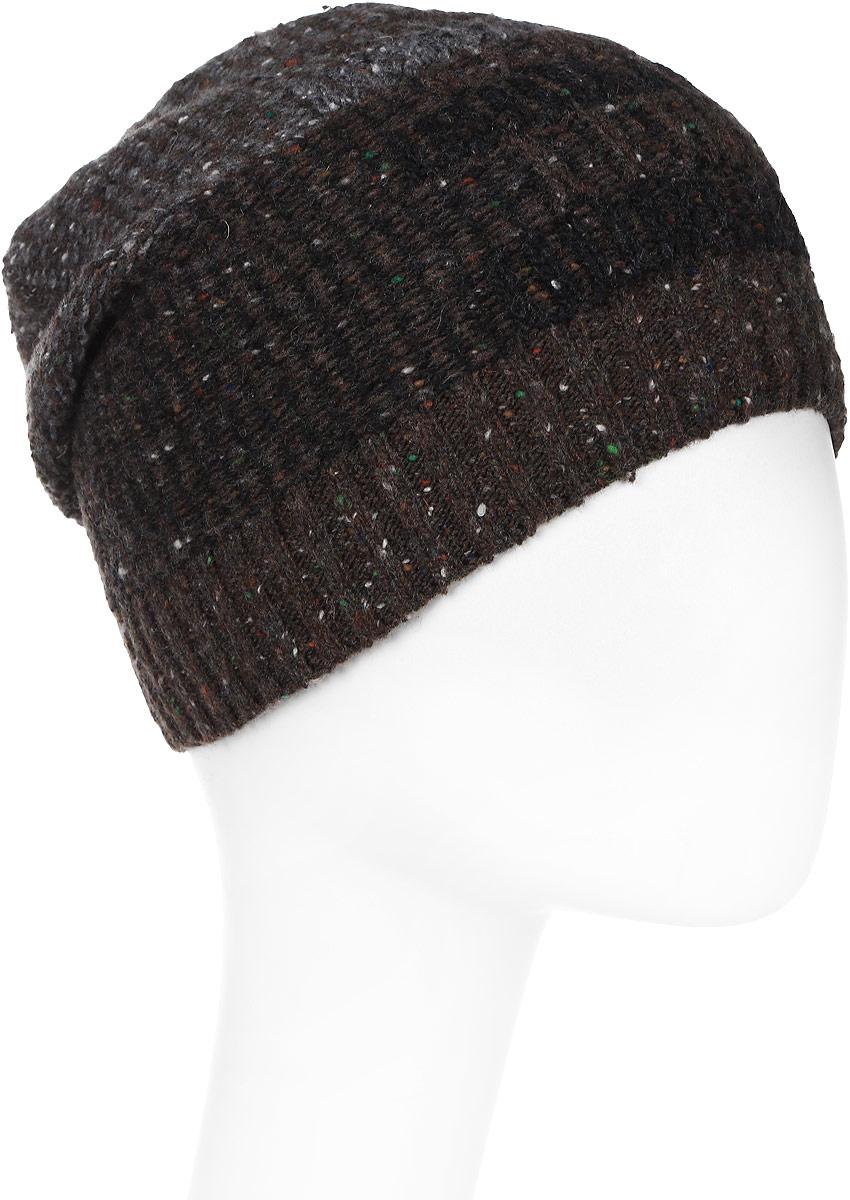 Шапка мужская Marhatter, цвет: коричневый, черный. Размер 57/59. MMH6727/1MMH6727/1Отличная вязаная шапка в стиле сasual. Модель прекрасно подойдет активным молодым людям, ценящим комфорт и удобство. Идеальный вариант на каждый день.