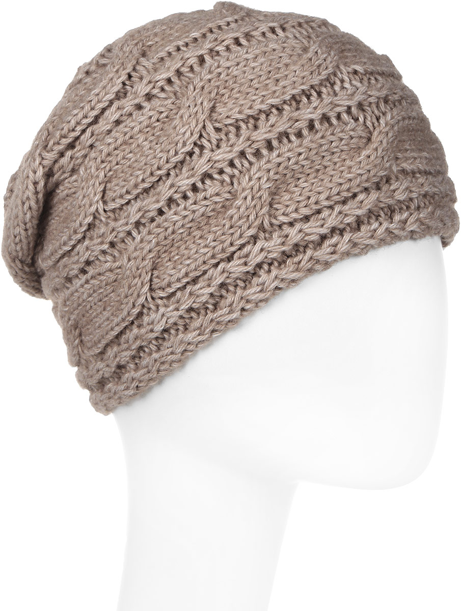 Шапка женская Marhatter, цвет: бежевый. Размер 56/58. MWH6765/1MWH6765/1Отличная вязаная шапка в стиле сasual. Модель прекрасно подойдет для женщин, ценящих комфорт и красоту. Незаменимая вещь на прохладную погоду.