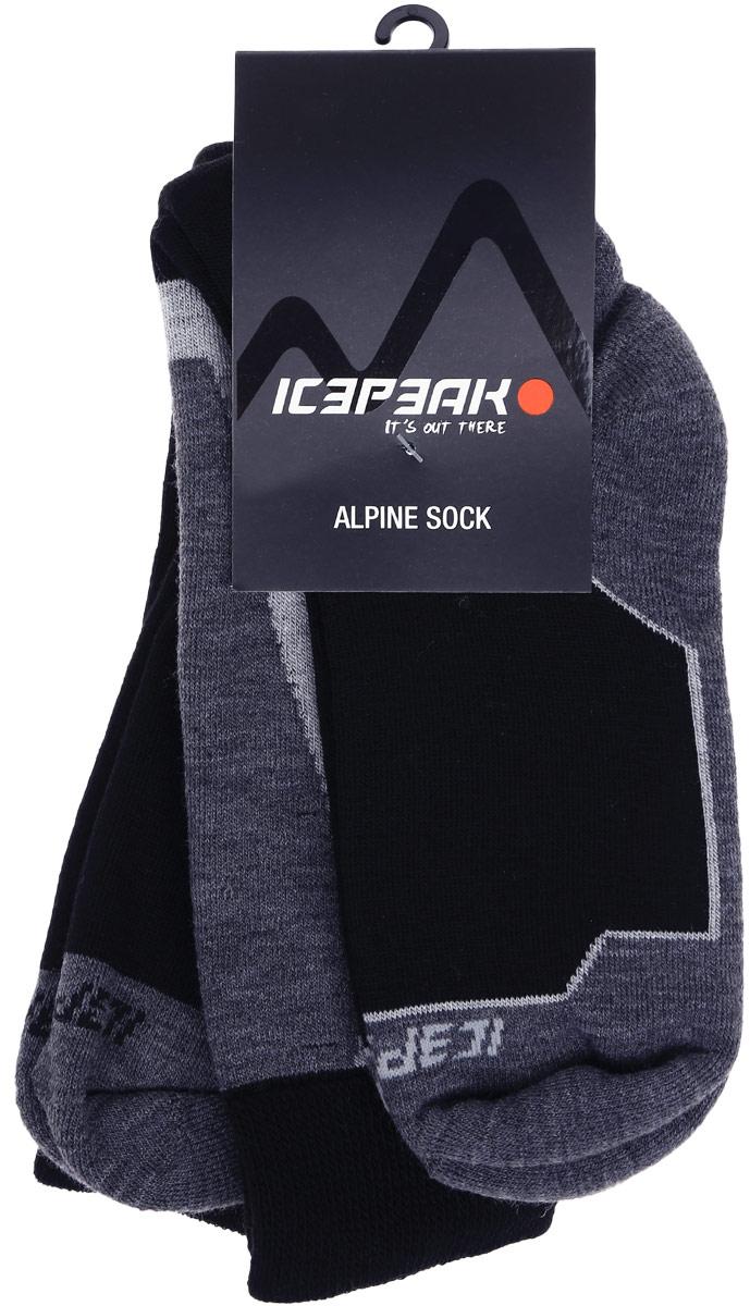 Носки мужские Icepeak, цвет: черный. 858883500IV_991. Размер 42858883500IV_991Мужские носки для повседневной носки выполнены из качественного материала. Носок и пятка укреплены, что значительно увеличивает износостойкость носков.
