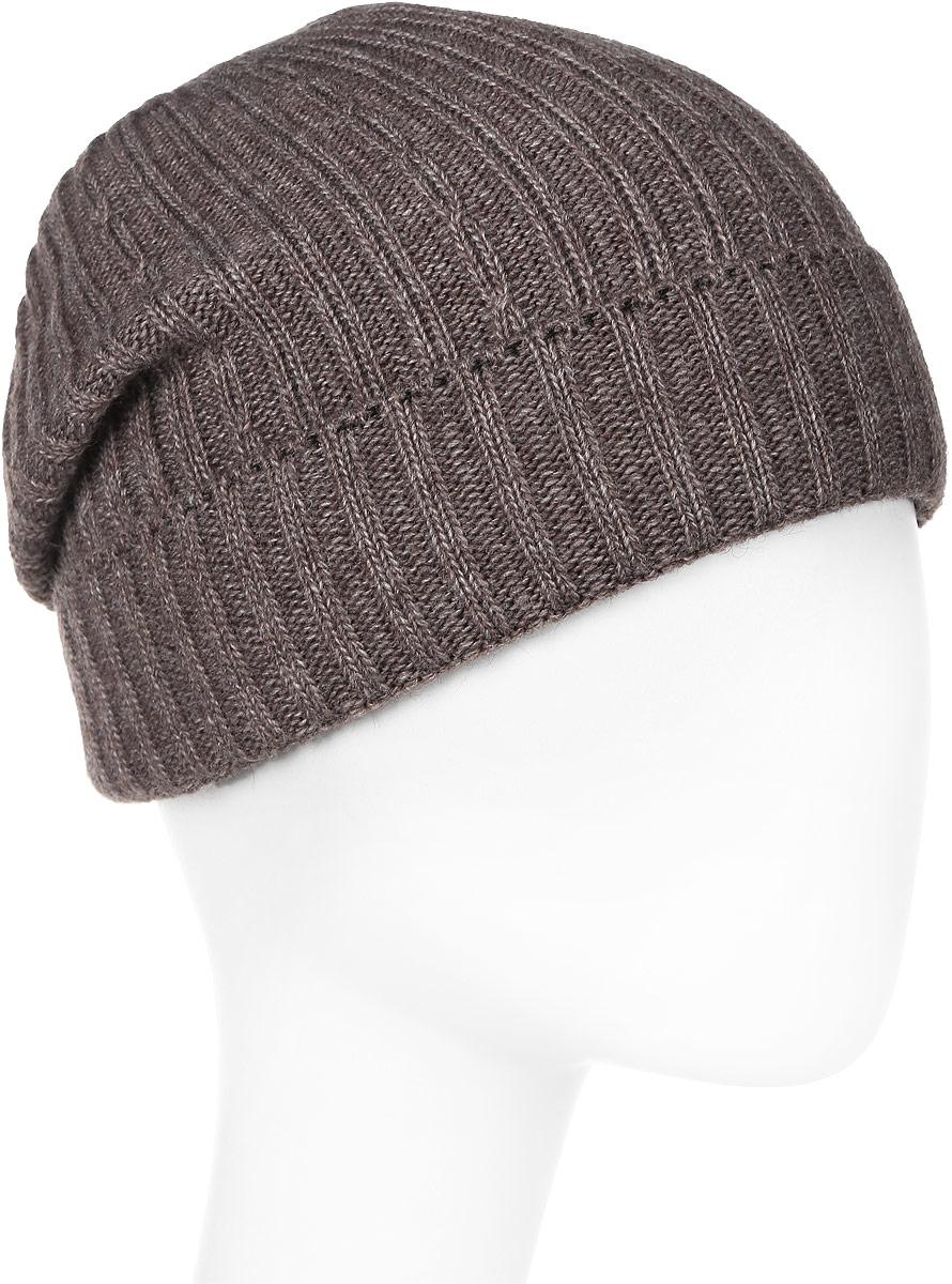 Шапка мужская Elfrio, цвет: коричневый. Размер 57/59. RMH6460/2RMH6460/2Теплая шапка, выполнена из комфортного материала. Данная модель мягкая и комфортная на ощупь, отличный вариант на каждый день.