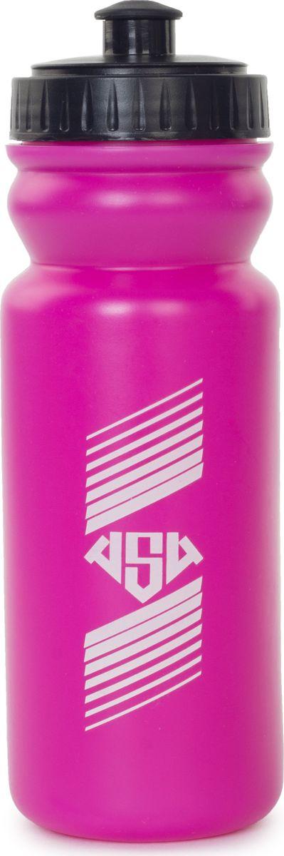 Бутылка спортивная AS4, цвет: малиновый, 500 мл349827Размер: 7 х 21 см Материал: пластик Дополнительно: при использовании необходимо надавливать на бутылку