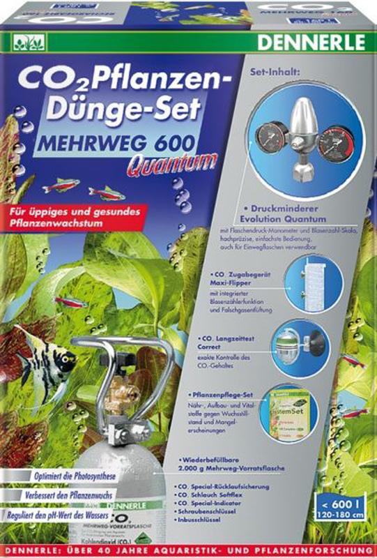 Установка для подачи СО2 в аквариум Dennerle Mehrweg 600 Quantum, с пополняемым баллономDEN3078Dennerle MEHRWEG 600 Quantum - Установка с пополняемым баллоном для подачи СО2 в аквариум