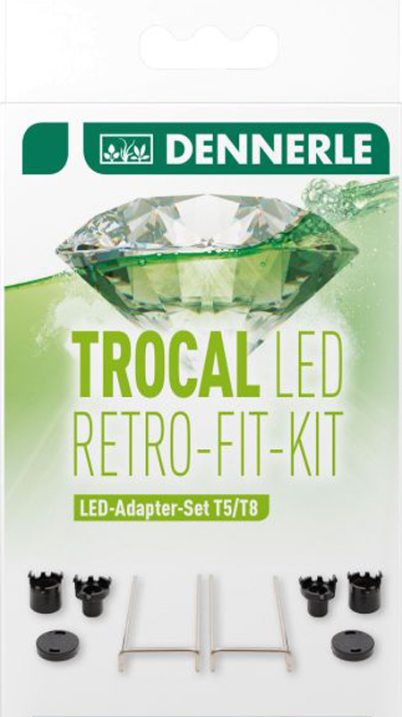 Набор адаптеров Dennerle Trocal LED Retro Fit Kit для установки LED светильника в светильники T5/T8 2pcs 7 inch led driving light 50w 30w h4 h13 led car headlight kit auto for jeep led head lamp bulbs dipped