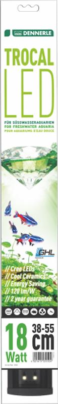 Светильник Dennerle Trocal LED 130, длина 130 смDEN5560Dennerle Trocal LED 130 - Светодиодный светильник, 130 см, для пресноводных аквариумов шириной 128-145 см
