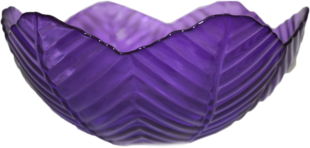 Салатник NiNaGlass Верна, цвет: лиловый, 20 х 20 х 8,5 см83-032-Ф200 ЛИЛ