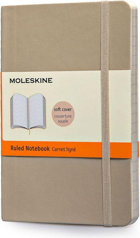 Moleskine Записная книжка Classic Soft Pocket 96 листов в линейку цвет бежевый385259Новая версия популярной классической записной книжки Moleskine размера pocket в мягкой бежевой обложке с закругленными углами, лентой-закладкой, эластичной застежкой и вместительным внутренним карманом, куда вложена карточка с историей компании Moleskine. Эта записная книжка бесспорно станет надежным спутником в путешествии и поможет сохранить яркие впечатления, воспоминания и наблюдения