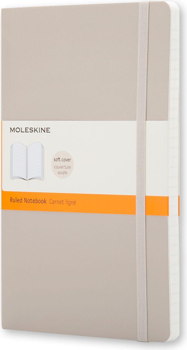 Moleskine Записная книжка Classic Soft Large 96 листов в линейку цвет бежевый385261Новая версия популярной классической записной книжки Moleskine размера large в мягкой бежевой обложке с закругленными углами, лентой-закладкой, эластичной застежкой и вместительным внутренним карманом, куда вложена карточка с историей компании Moleskine. Эта записная книжка бесспорно станет надежным спутником в путешествии и поможет сохранить яркие впечатления, воспоминания и наблюдения