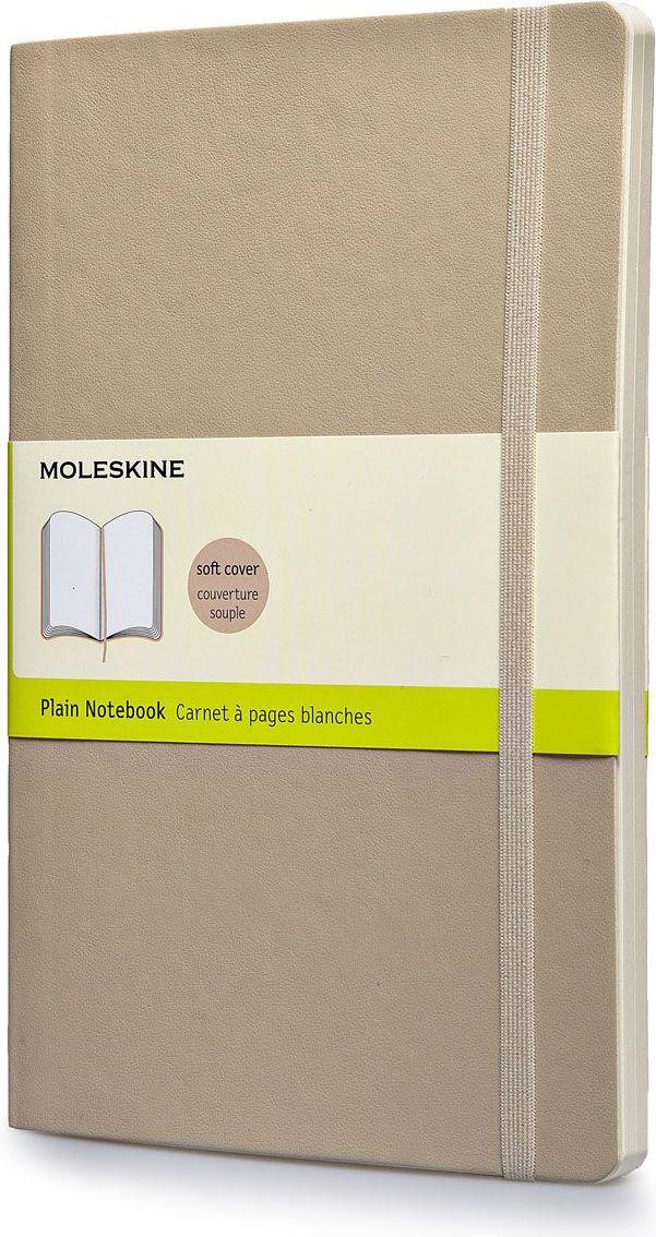 Moleskine Записная книжка Classic Soft Large 96 листов без разметки цвет бежевый385262Новая версия популярной классической записной книжки Moleskine размера large в мягкой бежевой обложке с закругленными углами, лентой-закладкой, эластичной застежкой и вместительным внутренним карманом, куда вложена карточка с историей компании Moleskine. Эта записная книжка бесспорно станет надежным спутником в путешествии и поможет сохранить яркие впечатления, воспоминания и наблюдения