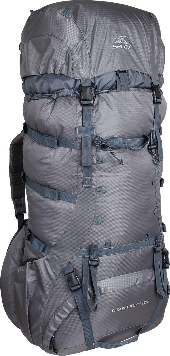 Рюкзак туристический Сплав Titan 125 Light, цвет: серый, 125 л5021790Облегчённая версия популярного экспедиционного рюкзакаРюкзак имеет классическую регулируемую подвесную системуЗа счет новой конструкции спины (без использования металлических лат) и использования более легкой ткани, удалось снизить веса рюкзака до 2 кгНовая спинка рюкзака благодаря многослойной структуре имеет достаточную жесткость и обеспечивает отличную вентиляциюТочки крепления треккинговых палок или ледорубаДополнительные точки крепления груза на клапане и передней стенке рюкзакаНижние боковые карманы на молнии позволяют получить доступ к их содержимому не снимая рюкзакаНижний вход. Объем: 125 лПолный вес: 1,96 кгИспользуемые ткани: Polyester Diamond 210D R/S/Cordura 1000D (дно)Пластиковая фурнитура: YKK