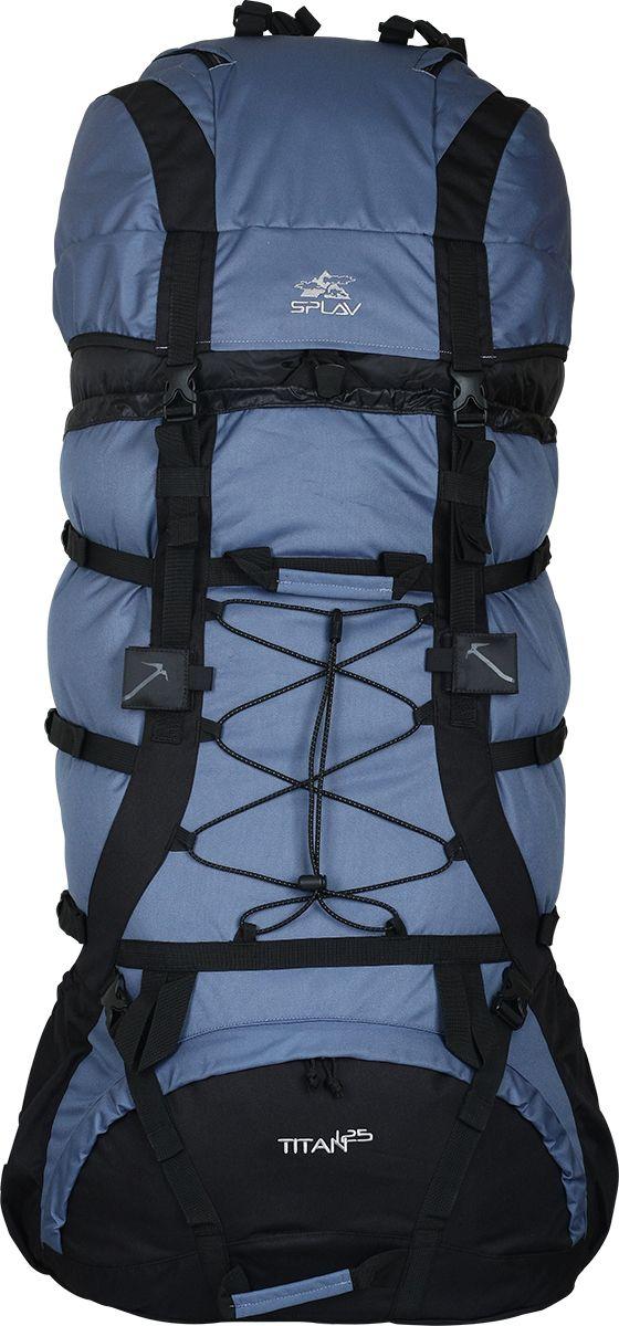 Рюкзак туристический Сплав Titan 125, цвет: синий, 125 л5024960Мощный экспедиционный рюкзак с правильной геометрией, для длительных походов и тяжелых грузовРегулируемая подвесная система с отличной вентиляциейПрофилированные дюралевые латы. За счет специального профиля лат рюкзак обретает повышенную жесткость при меньшем весеЗамкнутый силовой каркасЗапатентованная система внутренних стяжек позволяет эффективно регулировать внутренний объем рюкзака. Благодаря внутренним стяжкам , расположенным на двух уровнях, рюкзак сохраняет правильную «плоскую» форму с максимально смещенным к спине центром тяжести. Конструкция защищена патентом № 63654В верхней части спины расположена вогнутая внутрь рюкзака объемная деталь с мягкой вставкой и жестким фиксирующим элементом, обеспечивающая больше свободного места для головыУникальный клапан с тремя независимыми объемными отсекамиСпинные оттяжки клапана расположены «вверх ногами». Благодаря чему, сняв полностью (не расстегивая передние фастексы) клапан, его можно использовать в качестве мини-рюкзака, вставив свободные оттяжки в ответную часть фастексовДвойная затяжка пояса позволит максимально эффективно зафиксировать рюкзак на бедрахУдобные объемные карманы на поясеЯчейки MOLLE на поясе и лямках рюкзака позволят разместить рацию, GPS или другое оборудование, а также дополнительные подсумки в максимально удобных для быстрого доступа местахСистема крепления груза на клапане и передней поверхности рюкзакаКрепления для скально-ледового снаряжения. Объем: 125 лВес 2,8 кгОсновное отделение (Ш х В х Т): 47 х 87 х 24 смКарман верхнего клапана (Ш х В х Т): 47 х 27 х 24 смОсновная ткань: Polyester 600DПластиковая фурнитура: YKK