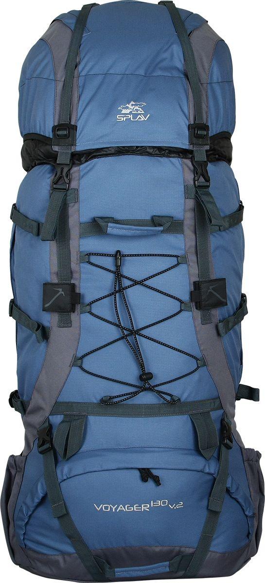 Рюкзак туристический Сплав Voyager 130 v.2, цвет: синий, серый, 130 л5027160Универсальный экспедиционный рюкзак. Отлично подойдет для всех видов туризмаПрофилированные дюралевые латы. За счет специального профиля лат рюкзак обретает повышенную жесткость при меньшем весеВ верхней части спины расположена вогнутая внутрь рюкзака объемная деталь с мягкой вставкой и жестким фиксирующим элементом, обеспечивающая больше свободного места для головыСъемный клапан имеет дополнительный карман для документов и легко трансформируется в поясную сумкуБоковые карманы изменяемого объема. Трапециевидные ограничители в верхней и нижней «раскрываемой» части карманов позволят снять повышенную нагрузку в этих узлах при максимальной набивке карманов, а дополнительные планки надежно защитят молнии карманов от внешнего воздействияДвойная затяжка пояса позволит максимально эффективно зафиксировать рюкзак на бедрахУдобные объемные карманы на поясеЯчейки на лямках рюкзака позволят разместить рацию, GPS или другое оборудование, а также закрепить дополнительные подсумки в максимально удобных для быстрого доступа местахСистема крепления груза на клапане и передней поверхности рюкзакаКрепления для скально-ледового снаряжения. Объем: 130 лВес: 3,21 кгОсновное отделение (Ш х В х Т): 50 х 82 х 22 смКарман верхнего клапана (Ш х В х Т): 50 х 30 х 22 смИспользуемые ткани: Polyester 600D / 450D R/S - Синий, ЗелёныйPolyester 600D / Honeycomb 300D R/S - БордоПластиковая фурнитура: YKK