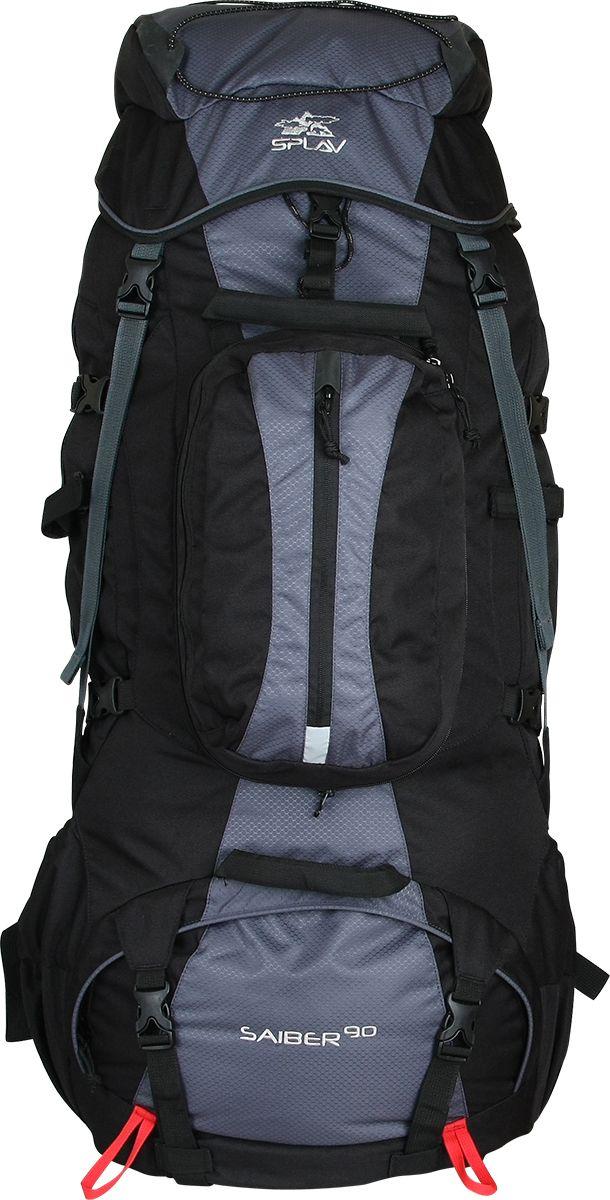 Рюкзак туристический Сплав Saiber 90, цвет: черный, серый, 90 л5027340Универсальный туристический рюкзакВ верхней части спины расположена вогнутая внутрь рюкзака объемная деталь с мягкой вставкой и жестким фиксирующим элементом, обеспечивающая больше свободного места для головыСъемный фронтальный карман можно использовать в качестве удобной поясной сумкиАнатомический, съёмный пояс отлично сидит на бедрах, хорошо перераспределяя нагрузкуОбъёмный плавающий клапан, дополнительно имеет два плоских кармана, один внутри самого клапана для документов, второй с обратной стороныБоковые карманы, изменяемого объёмаНижний вход фиксируется двумя стяжками, переходящими на дноОтделения рюкзака разделены перегородкой на молнииНижние боковые карманы для фиксирования длинномерных грузов имеют собственные стяжкиДве точки для крепления скально-ледового снаряженияДве ручки с фронтальной стороны и одна сзади для погрузки — разгрузки рюкзакаКомпрессионная стяжка на тубусеВозможна установка питьевой системы. Выход трубки питьевой системы на лямку как правую, так и левуюЭластичный шнур на клапане для крепления дополнительного груза. Объем: 90 лВес: 3,1 кгИспользуемые ткани: Polyester 600D / Honeycomb 300D R/SПластиковая фурнитура: YKK