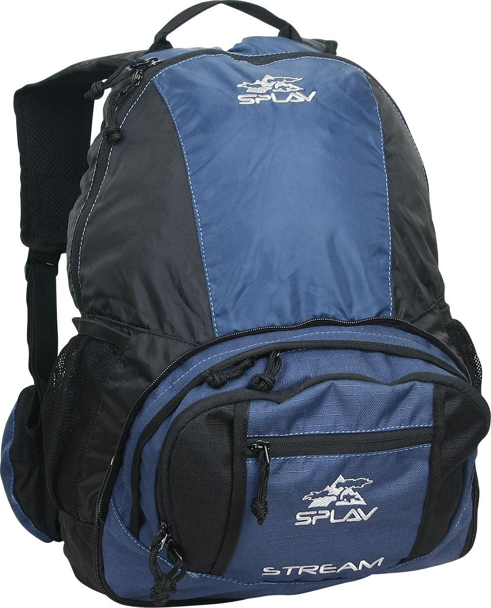 Рюкзак туристический Сплав Stream, цвет: синий, 17 л5027460Легкая сумка-рюкзак Сплав Stream, изготовленная из материала Polyester 600D R/S / 210D, является трансформером. В сложенном состоянии это удобная вместительная поясная сумка. Рюкзак имеет одно основное отделение, которое дополнено внутренним карманом. На фронтальной части изделия расположен большой карман с органайзером.На поясе два объемных кармана.Расстегнув расположенную по периметру разъемную молнию, сумка превращается в легкий вместительный городской рюкзакВход в основное отделение рюкзака застегивается на застежку-молнию.Объем: 17 л.Вес: 0,5 кг.Размеры в виде сумки без учета пояса (Ш х Т х В): 30 х 22 х 9 см.Размеры в виде рюкзака без учета пояса (Ш х Т х В): 30 х 28 х 40 см.