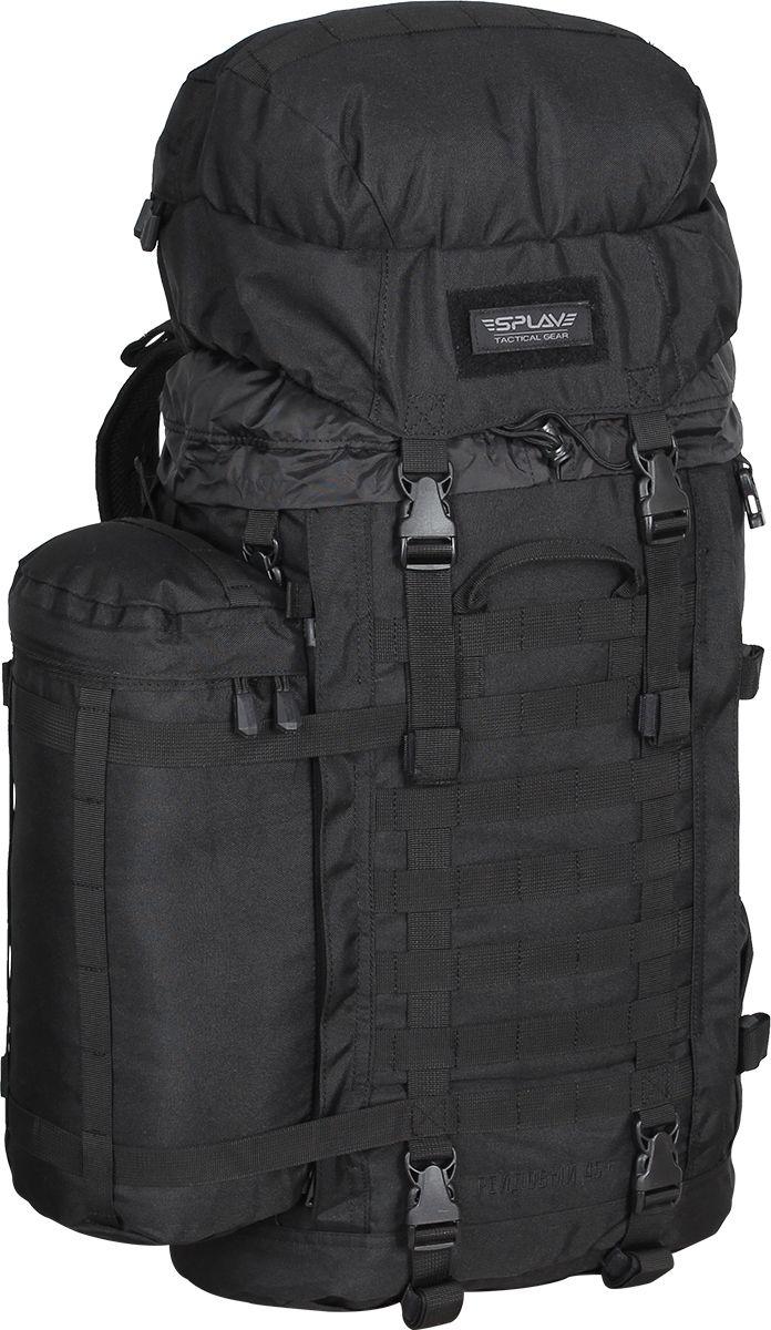 Рюкзак туристический Сплав Рейдовый 45+, цвет: черный, 45 л5035240Рейдовый рюкзак Сплав Рейдовый 45+ предназначен для длительных переходов.Рейдовый 45+ - это уменьшенный вариант боковые карманы в комплект не входят и продаются отдельно!Рюкзак, изготовленный из качественного материала Polyester 600D, имеет широкие лямки и анатомический силуэт. Два слоя пены и сетка AirMesh для мягкости и вентиляции. Верхние оттяжки.Ячейки PALS/MOLLE для крепления подсумков выполнены методом лазерной резки в усиленной ткани, что обеспечивает лямкам тонкий профиль и плоскую поверхность, не мешая прикладке оружия.Cпинка рюкзака, благодаря многослойной структуре, имеет высокую жесткость и обеспечивает отличную вентиляцию. Спина имеет правильную анатомическую форму.Передняя площадь рюкзака обшита стропами PALS/MOLLE для навески дополнительных подсумков.Тубус с двумя утяжками, шнуром и двумя компрессионными ремнями поверх.На боках рюкзака нашиты вертикальные 20 мм фастексы и крупные тракторные молнии для быстрой установки/демонтажа съемных карманов.Боковые стяжки на фастексах, которые можно натягивать как поверх съемных карманов, так и под ними, для чего под тракторными молниями креплений карманов имеются специальные прорези, в которые продеваются фастексы стяжек. На дно рюкзака нашиты стропы для крепления дополнительного груза.Две вшитые нижние утяжки на фастексах, позволяют крепить ко дну груз.Сверху нашиты стропы для крепления дополнительного груза. Объем: 45 л.Вес: 1,9 кг.Основное отделение (ШхВхТ), см: 35 х 57 х 19.Карман клапана (ШхВхТ), см: 35 х 10 х 19.