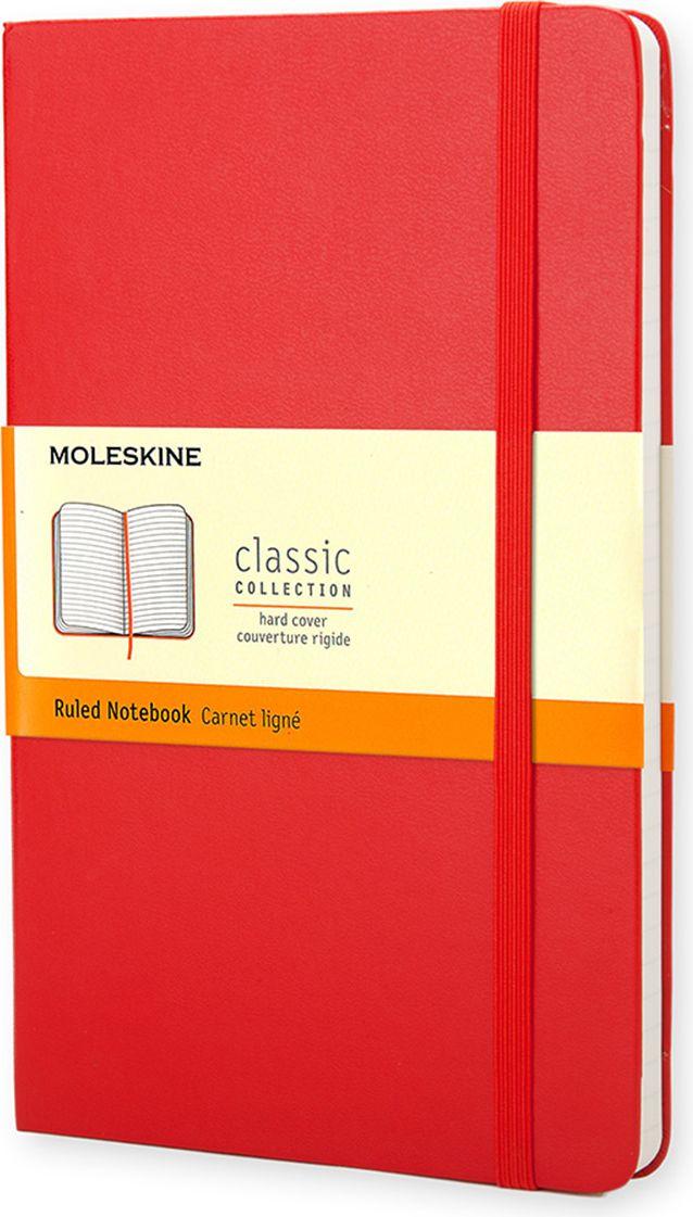 Moleskine Записная книжка Classic Pocket 96 листов в линейку цвет красный385212Простая, но уже ставшая классикой записная книжка в линейку размера pocket является одним из самых популярных изделий Moleskine. Как и ее черный аналог, уже ставший бестселлером, она выполнен во влагостойкой обложке с закругленными углами, закладкой, эластичной застежкой и вместительным внутренним карманом, куда вложена карточка с историей Moleskine.