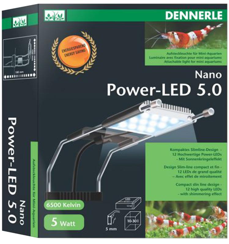 Светильник Dennerle Nano Power-LED 50 для нано-аквариумов 10-30 л, 5 Вт светильник для аквариума aqualighter pico soft led гибкий корпус цвет розовый 10 л