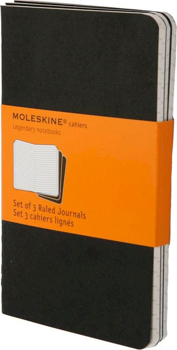 Moleskine Набор записных книжек Cahier Pocket 32 листа в линейку цвет черный 3 шт385277Набор их 3-х тонких записных книжек формата pocket в линейку. Записные книжки Cashier от Moleskine отличаются гибкой и прочной картонной обложкой черного цвета и хорошо заметной прошивкой на корешке. Последние 16 листов с перфорацией для легкого отрыва. Есть карман для заметок. В каждый набор из 3 штук вложена карточка с историей Moleskine.