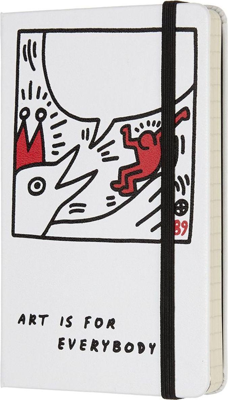 Moleskine Записная книжка Keith Haring Pocket 96 листов в линейку цвет белый430906Keith Haring - новая ограниченная серия записных книжек Moleskine. Посвящена легендарному американскому художнику 80-х годов 20 века. Блокноты украшены репродукциями его работ.Неповторимые черты записной книжки Moleskine Keith Haring: прошитый нитками переплет; cкругленные углы;не желтеющие со временем страницы; быстро впитывающая чернила бумага; вместительный внутренний кармашек; закладка-ляссе;резинка-фиксатор.