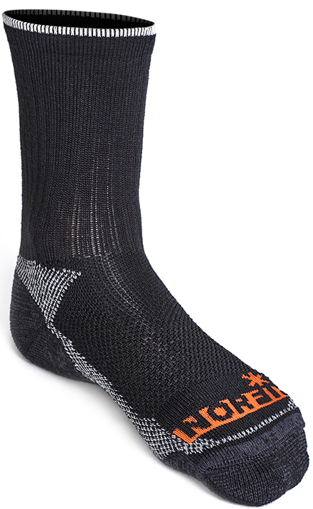 Термоноски мужские Norfin Nordic Merino T3A, цвет: черный, серый. 303902. Размер L (42/44)303902Носки предназначены для высокой активности в холодную погоду. Материал – комбинация шерсти Мериноса с акрилом, обеспечивает тепло ногам. Носки мягкие и износостойкие. – Для очень холодной погоды и высокой активности– Не сдавливает стопу– Плоские швы– Зональная вязка