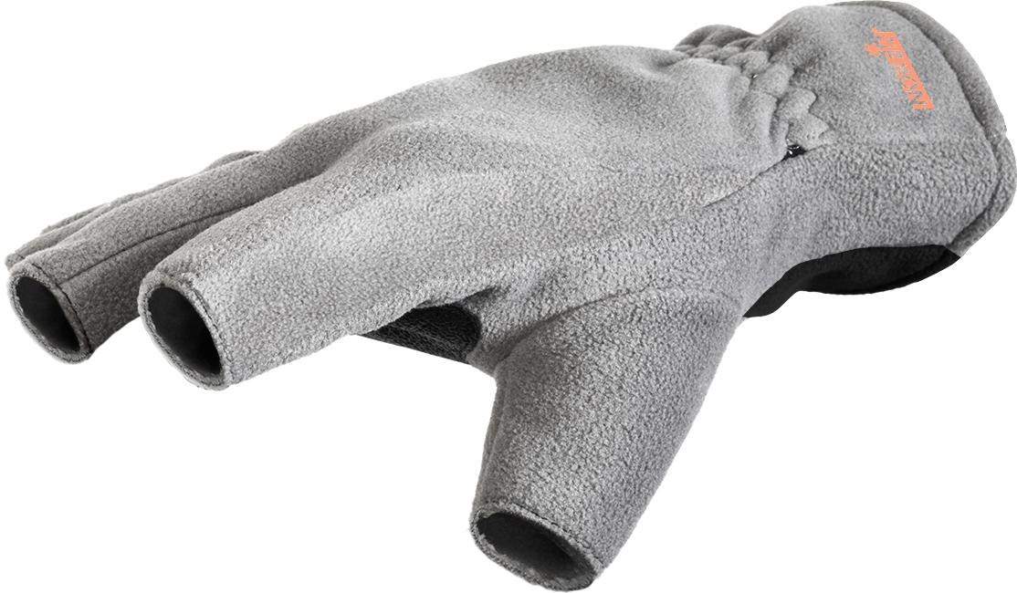 Перчатки для рыбалки мужские Norfin Point, цвет: черный, серый. 703063. Размер XL (25)703063Ветрозащитные перчатки для рыбалки от Norfin выполнены из полиэстера с PU мембраной.
