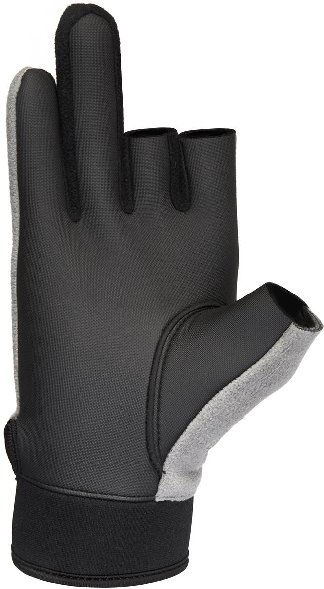 Перчатки для рыбалки мужские Norfin Argo, цвет: черный, серый. 703066. Размер L (23)