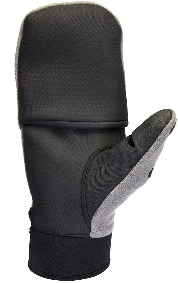 Перчатки для рыбалки мужские Norfin Helium, цвет: черный, серый. 703067. Размер XL (25)703067Ветрозащитные отстегивающиеся перчатки-варежки из полиэстера с PU мембраной и неопрена.
