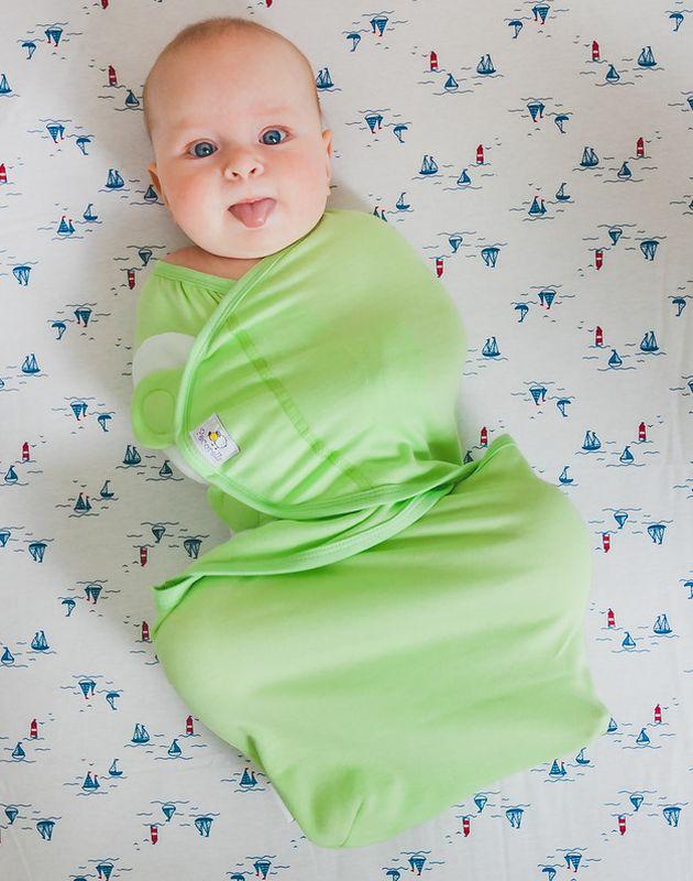Pecorella Пеленка на липучках SwaddleFun Light Green Размер L 4,5-8,5 кг - Подгузники и пеленки