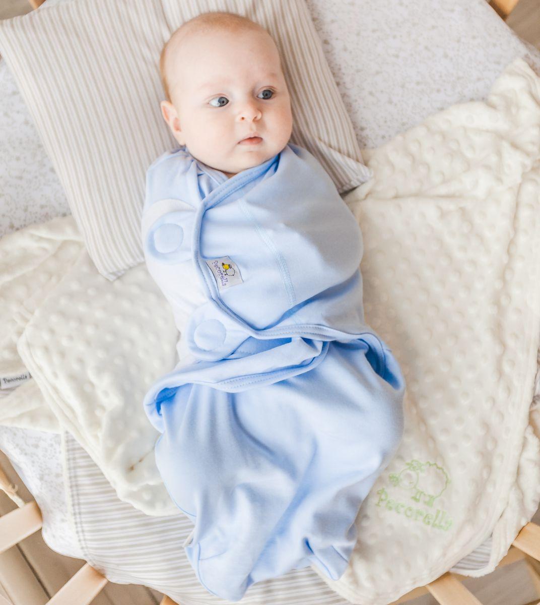 Pecorella Пеленка на липучках SwaddleFun Ocean Blue Размер L 4,5-8,5 кг - Подгузники и пеленки