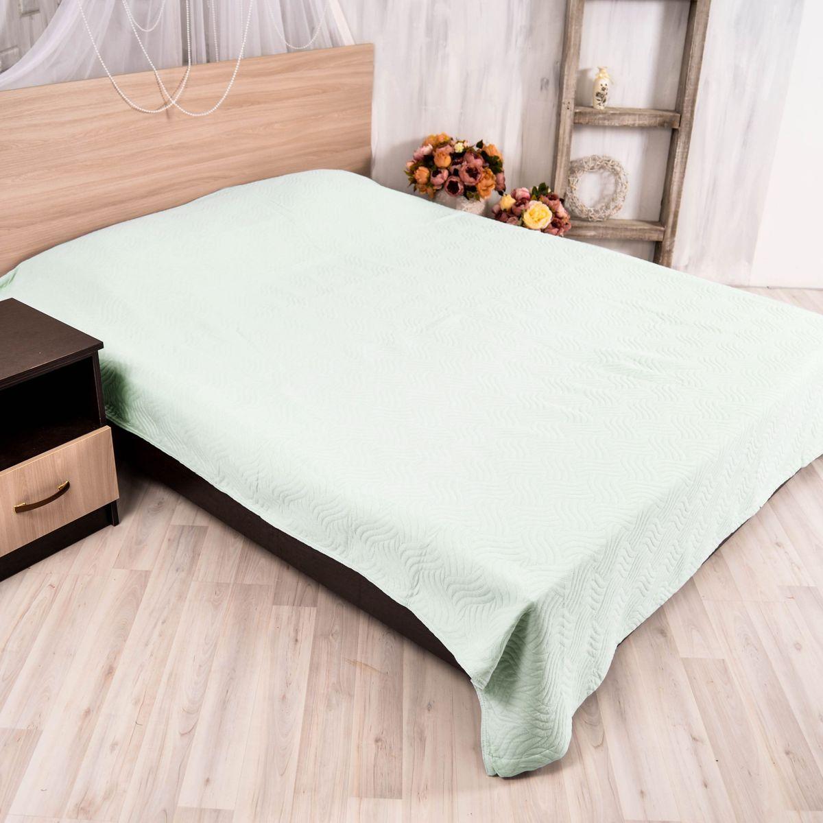 Покрывало Arloni Плетение, цвет: фисташковый, 200 х 230 см скатерть arloni arloni mp002xu0du48