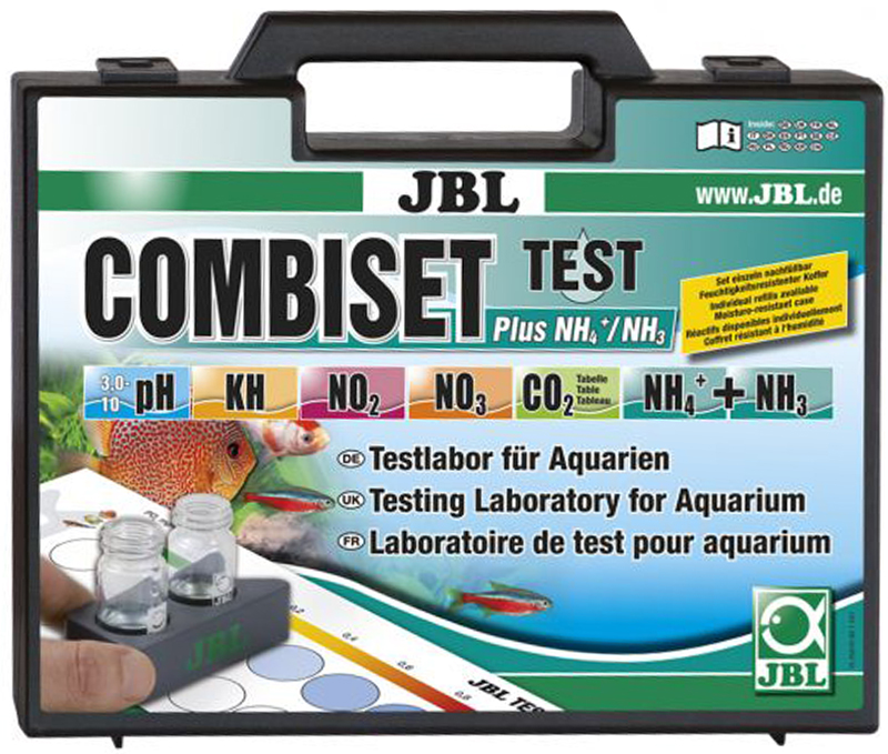 Набор тестов для определения основных параметров воды JBL Test Combi Set Plus NH4 plus 1600 combi rser