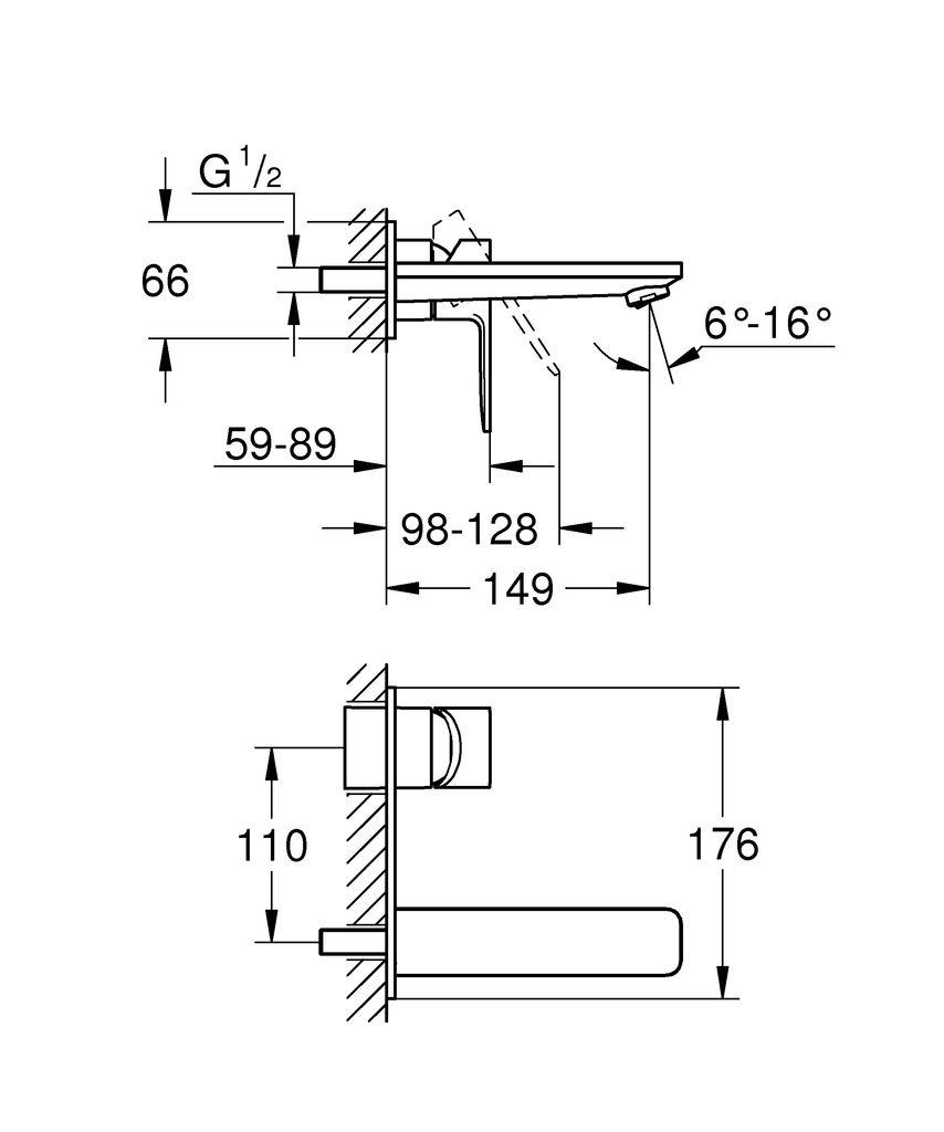 Элегантность и премиальное качество - однорычажный смеситель для раковины GROHE Lineare настенного монтажа.   С его аккуратным и минималистичным дизайном, настенный смеситель GROHE Lineare обладает выдающимся внешним обликом, который прекрасно впишется в любую современную ванную комнату.   Созданный в Германии, он оснащен уникальными технологиями GROHE. Это смеситель для монтажа на два отверстия с изливом длиной в 149 мм, которым легко пользоваться. Технология GROHE EcoJoy сокращает расход воды на 50% без ущерба для потока воды. Многослойное покрытие GROHE StarLight гарантирует, что поверхность сохранит свой блеск на долгие годы. Излив с регулируемым элементом GROHE AquaGuide позволяет направить поток воды в соответствии с контурами вашей раковины - больше никаких брызг!  Созданный в Германии, этот элегантный смеситель отлично подойдет к другим продуктам коллекции.