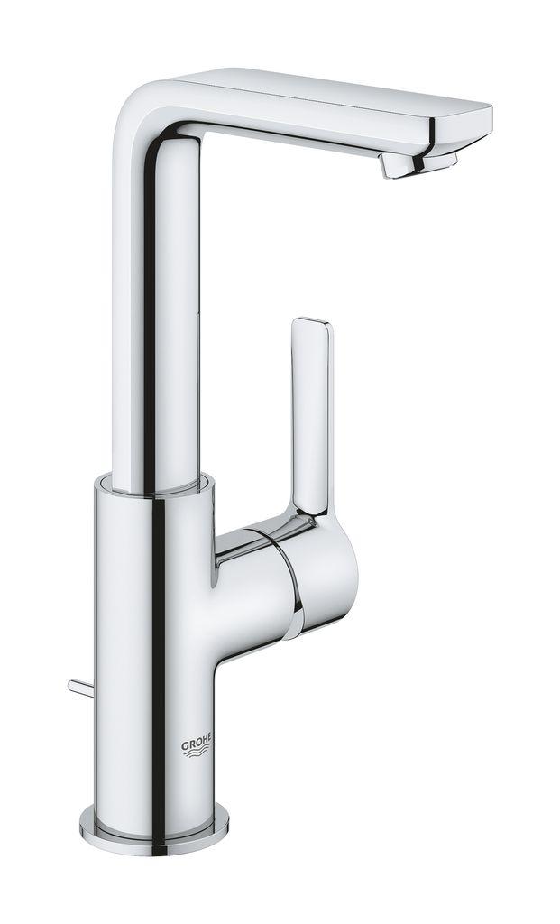 Смеситель для раковины Grohe Lineare New. 2329600123296001монтаж на одно отверстиеметаллический рычагGROHE SilkMove керамический картридж 28 ммс ограничителем температурыGROHE StarLight хромированная поверхностьGROHE EcoJoy SpeedClean аэратор с ограничением расхода воды 5,7 л/минGROHE QuickFix Plus Монтажная системаповоротный излив с аэратором и стопоромсливной гарнитур 1 1/4гибкая подводкаминимальное давление 1,0 бар