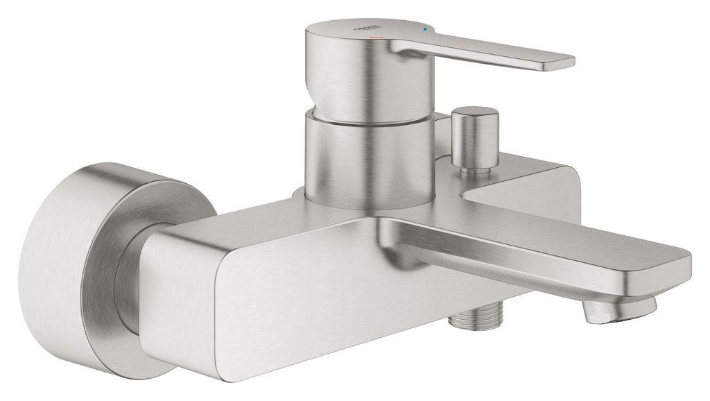Смеситель для ванны Grohe Lineare New. 33849DC133849DC1настенный монтажметаллический рычагGROHE SilkMove керамический картридж 35 ммс ограничителем температурыGROHE StarLight хромированная поверхностьавтоматический переключатель: ванна/душаэраторотвод для душа 1/2встроенный обратный клапанскрытые S-образные эксцентрикис защитой от обратного потокаминимальное давление 1,0 бар