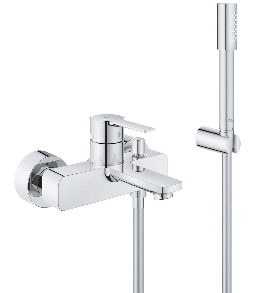 Смеситель для ванны Grohe Lineare New. 3385000133850001настенный монтажметаллический рычагGROHE SilkMove керамический картридж 35 ммс ограничителем температурыGROHE StarLight хромированная поверхностьавтоматический переключатель: ванна/душаэраторотвод для душа 1/2встроенный обратный клапанскрытые S-образные эксцентрикис защитой от обратного потокас душевым гарнитуромвключает в себя:ручной душ Sena (28 034 000)держатель для душа Tempesta New 100 /Cosmopolitan (27594000)душевой шланг Silverflex 1.500 мм (28 364 000)минимальное давление 1,0 бар