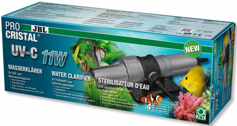 УФ-стерилизатор JBL ProCristal UV-C 11W, для аквариумов и прудов, 11 ВтJBL6036600JBL ProCristal UV-C 11W - Высокопроизводительный УФ-стерилизатор для аквариумов и прудов, 11 Вт