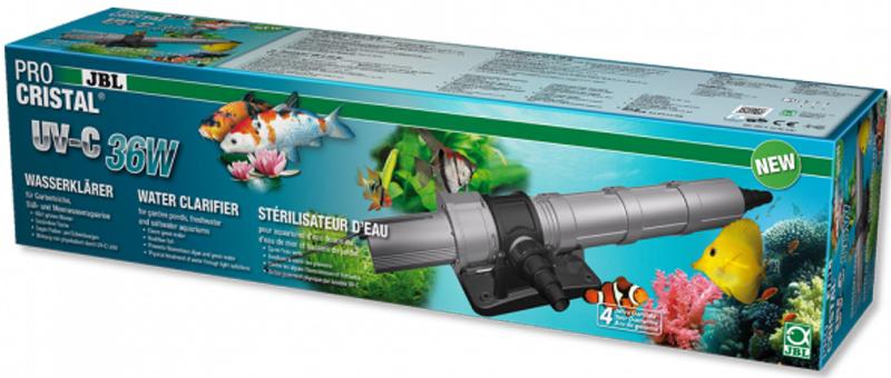 УФ-стерилизатор JBL ProCristal UV-C 36W, для аквариумов и прудов, 36 ВтJBL6036800JBL ProCristal UV-C 36W - Высокопроизводительный УФ-стерилизатор для аквариумов и прудов, 36 Вт