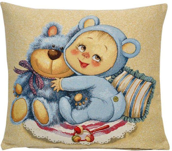 Подушка декоративная Рапира Мамино счастье. Медвежонок, 33 х 33 см подушка декоративная рапира птичий базар 45 х 65 см