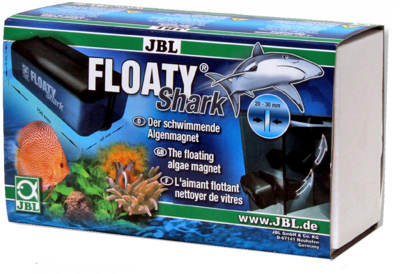 Скребок JBL  Floaty Shark , плавающий, магнитный, для особо толстых стекол - Аксессуары для аквариумов
