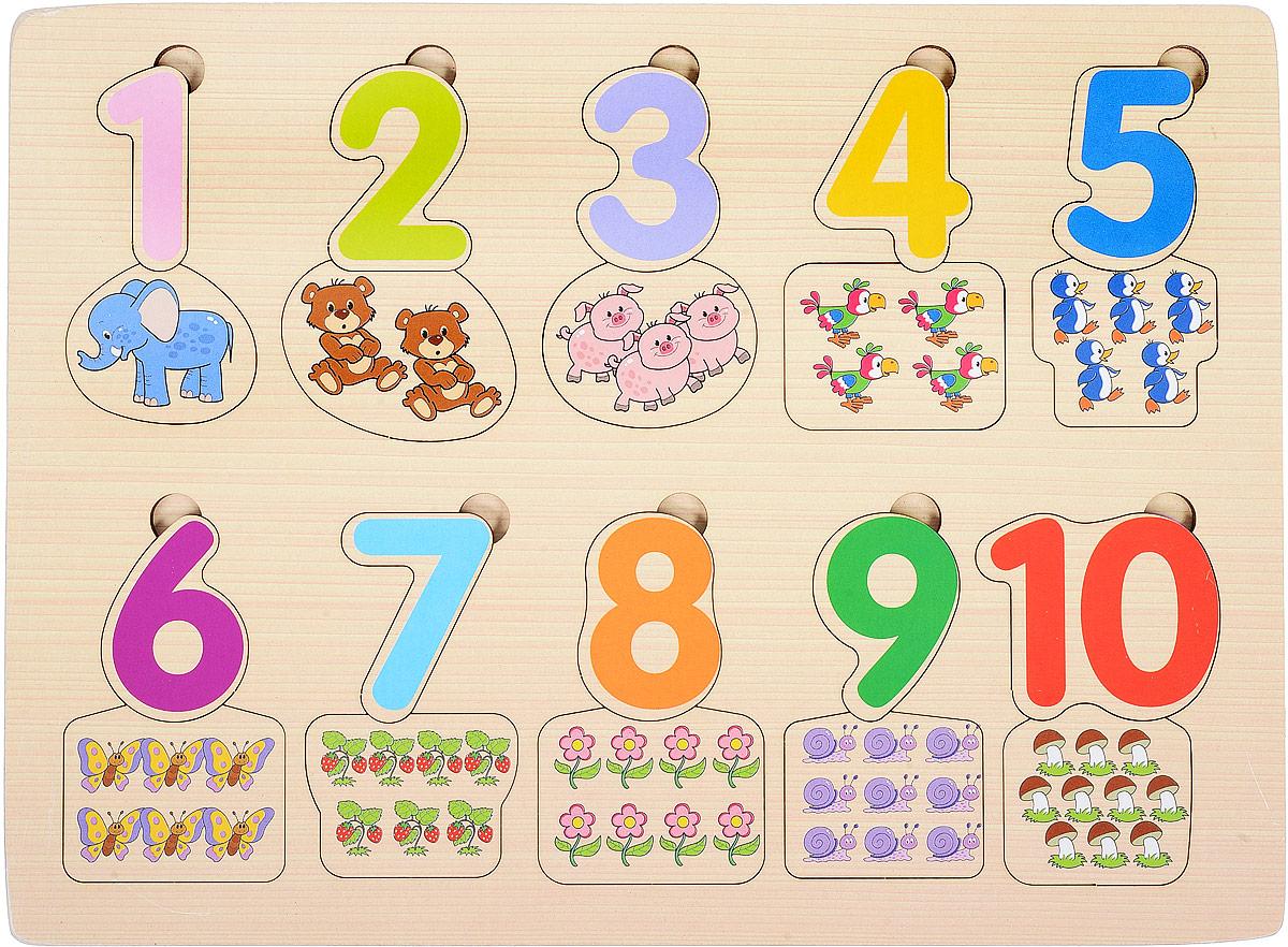 игры для малышей step puzzle настольная игра дорожные знаки Step Puzzle Пазл для малышей Веселая математика Посчитай-ка!