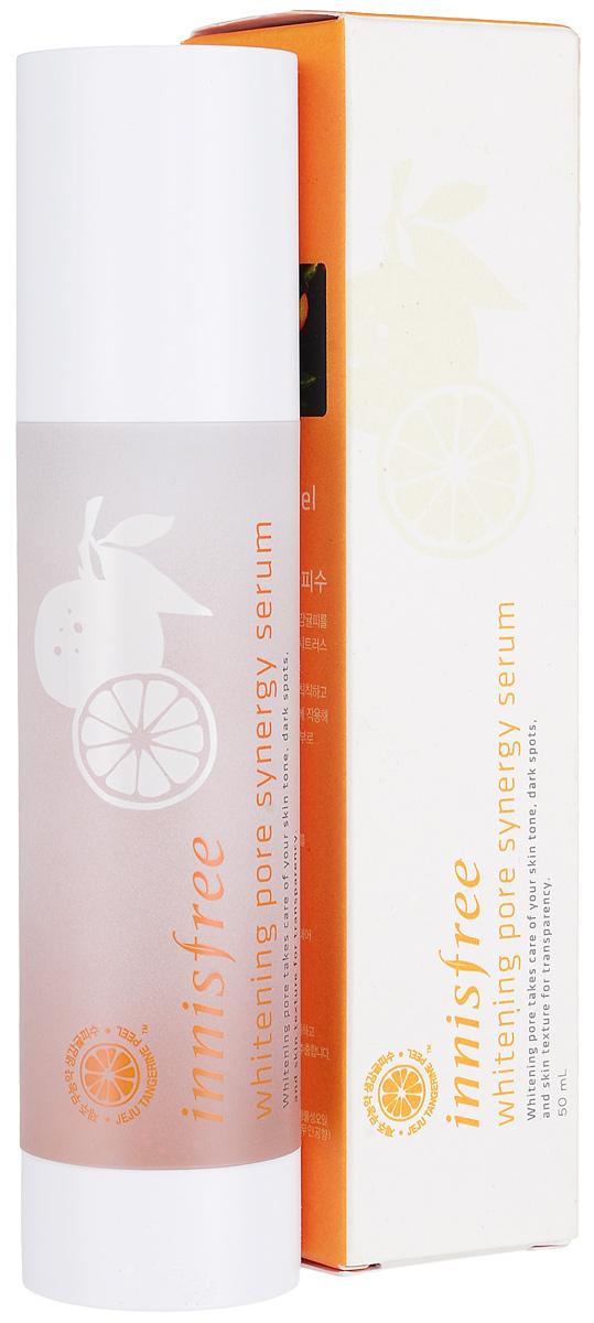 Innisfree Осветляющая эссенция для лица, 50 мл545483Осветляющая и выравнивающая ампульная сыворотка с устойчивой формой витамина С для яркой, ровной и чистой кожи. Whitening Pore Synergy Serum - это вторая ступень ежедневного ухода за кожей. Сыворотка обладает легкой гелевой текстурой с мельчайшими гранулами-ампулами с активными компонентами средства, которые растворяются на коже. После применения сыворотки заметно сужаются поры и выравнивается текстура кожи – она становится более ровной и гладкой. Заметно улучшается тон кожи – она становится более яркой, светлой и здоровой, постакне и различные пятна заметно осветляются.