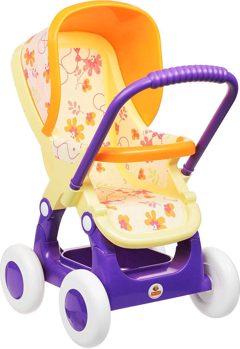Полесье Коляска для кукол прогулочная №2 цвет желтый фиолетовый rant коляска прогулочная vira alu цвет желтый