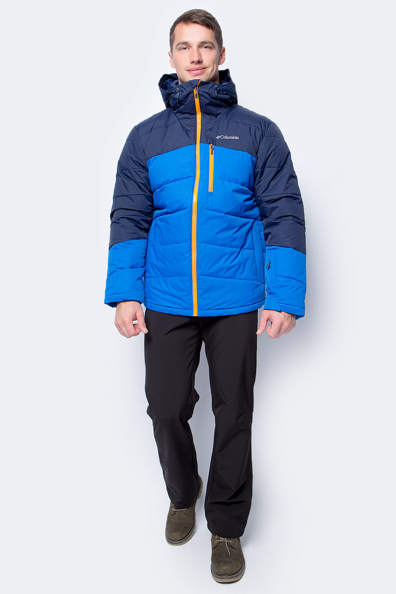 Куртка мужская Columbia Woolly Hollow Jacket M Ski, цвет: синий. 1780701-438. Размер L (48/50)1780701-438Куртка мужская Columbia изготовлена из качественного полиэстера с теплой подкладкой. Куртка застегивается на молнию. Модель дополнена капюшоном и врезными карманами.